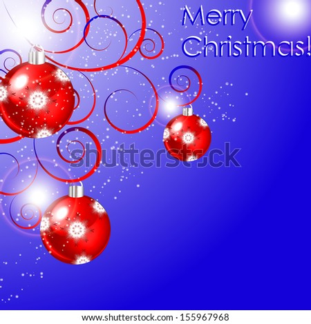 vector illustration with Christmas balls - stock vector