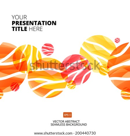 Vector illustration with circle design elements. Seamless circle abstract background. - stock vector