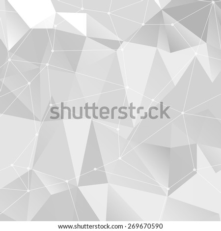 Vector illustration with 3D background and lines - stock vector