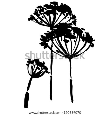 Vector illustration with decorative flower - stock vector