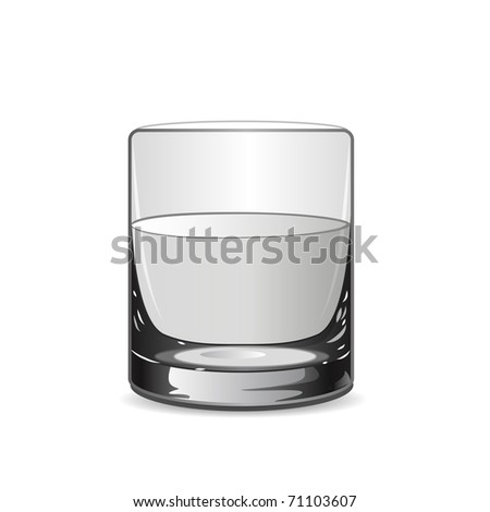 Vector illustration with glass