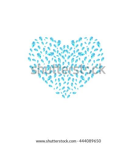 Vector Heart Made Little Watercolor Hearts Stock Vector ...
