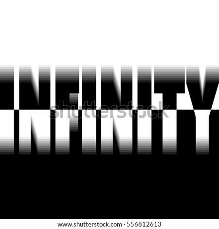 vector illustration infinity word concept eternity stock vector