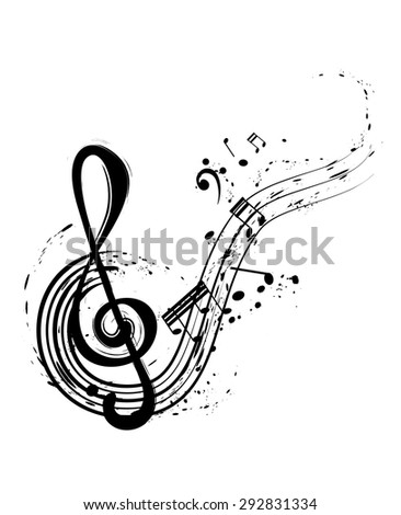 vector illustration with musical notes