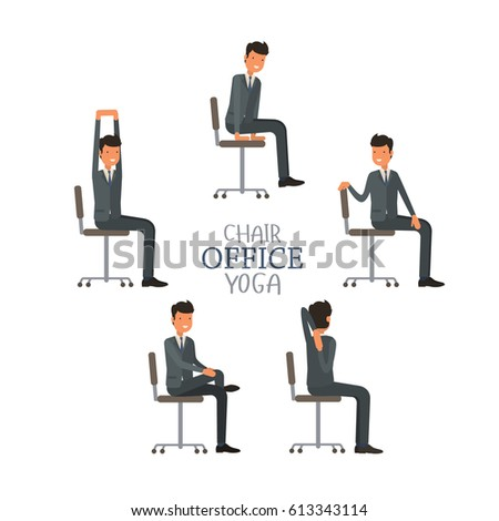 vector illustration office chair yoga business stock vector