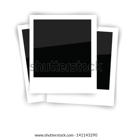 Vector Illustration with  Photo Frames Isolated on White Background for Your Design