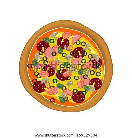 Vector illustration with pizza