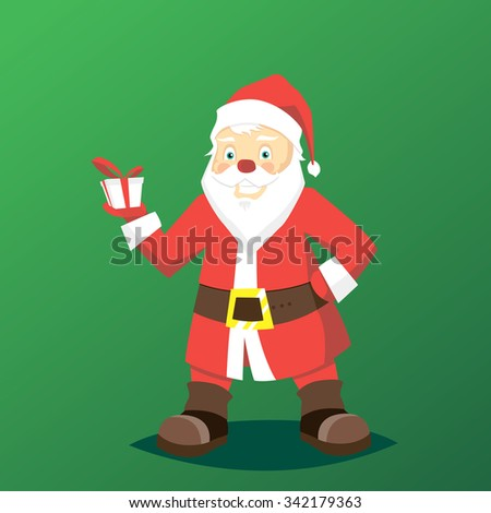 Vector illustration with santa clause poster for holiday design