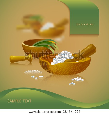 Vector illustration with  spa accessories   - stock vector