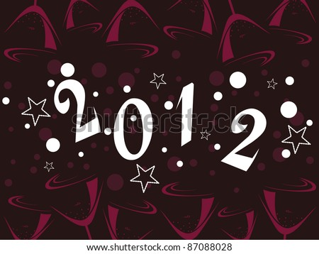 vector illustration with stylish text for new year - stock vector
