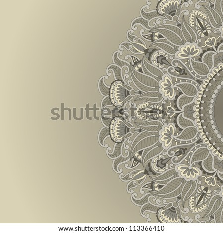 Vector illustration with vintage pattern for print. - stock vector
