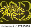 Vector illustration. 2013 year of the snake - stock vector