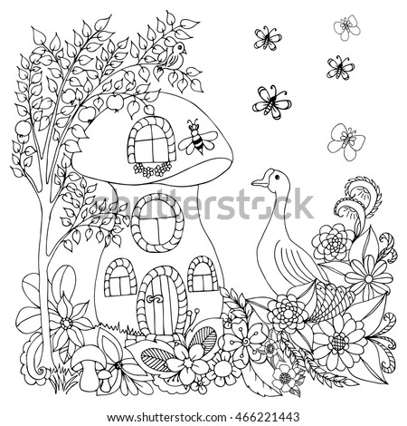 House goose stock photos royalty free images vectors Coloring books for adults near me