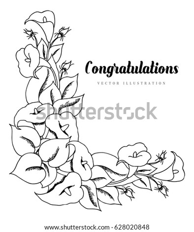 stock vector vector illustration zentangle greeting card of lily flowers drawing scribbles coloring page 628020848 zentangle stock images, royalty free images & vectors shutterstock on scribbles coloring book