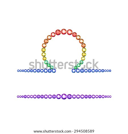 Vector Illustration Zodiac Symbol Libra Made Stock Vector 294508589
