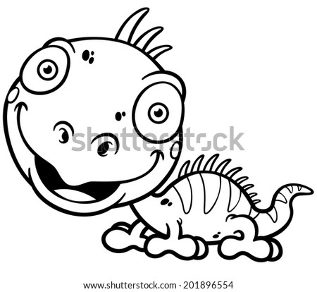 Green iguana coloring pages coloring pages for Green iguana coloring page