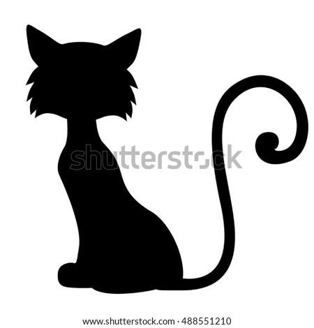 vector black silhouette sitting cat stock vector 332279522 cat face silhouette vector sitting cat silhouette vector