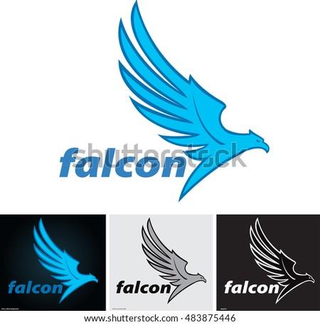 Vector Illustrations Mascot Eagle Flying Logo Stock Photo Photo