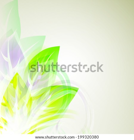 vector illustrator of Abstract artistic Background with yellow floral element