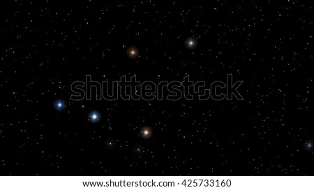 Vector image Abstract Stars constellation night Background
