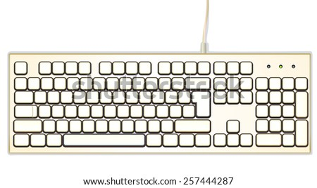 vector image, computer keyboard,
