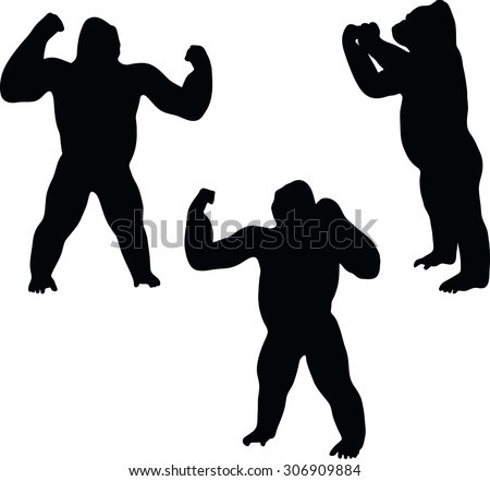 Gorilla Silhouette Sto...