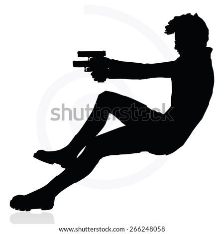 Man Pointing Gun Stock Vectors & Vector Clip Art ...