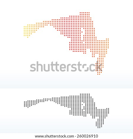 Vector Image Map Usa Maryland State Stock Vector 260026910