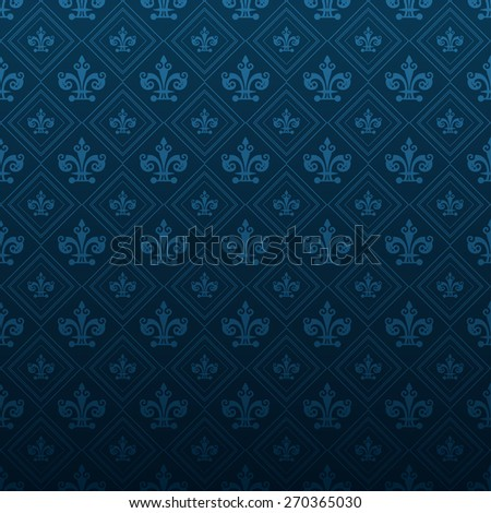 Vector image modern pattern wallpaper for your design vintage style abstract blue background texture for design poster cards invitations book web design wallpaper for walls background pattern dark  - stock vector