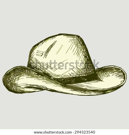Vector image of a cowboy hat