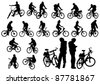 Vector image of a cyclist fit - stock vector