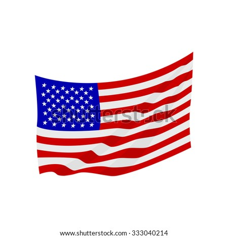 Vector image of a flag of the United States of America