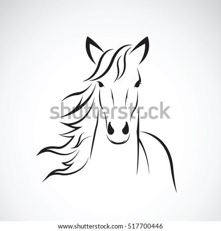 Vector image horse head design on stock vector 517700446 shutterstock - Tete de cheval dessin ...
