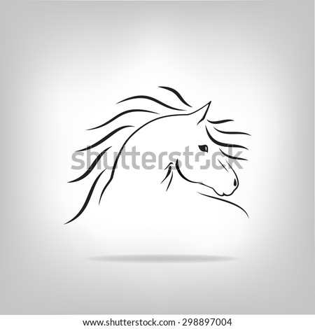 Vector image of a horse. Logo design for the company.