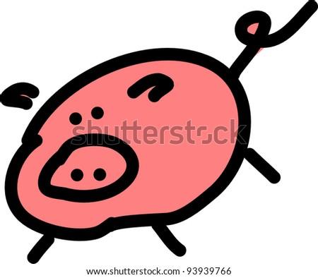 vector image of a pig piggy bank - stock vector