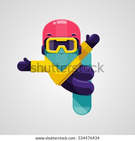 Vector image of a snowboarder doing a trick - stock vector