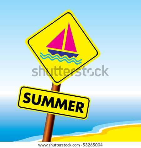 vector image of a symbol of summer holidays for your design