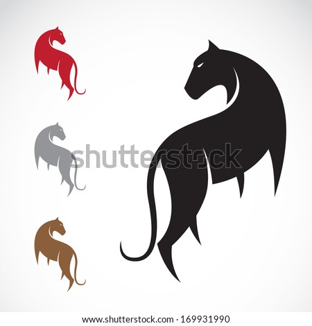 Vector image of a tiger on white background - stock vector