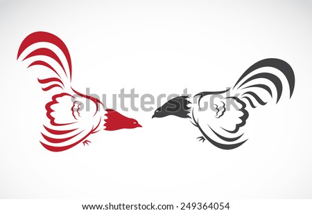 Vector image of an cock on white background - stock vector