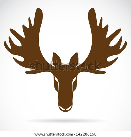 Vector image of an deer head on a white background - stock ...