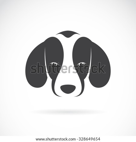 Vector image of an dog beagle on white background, Animals - stock vector