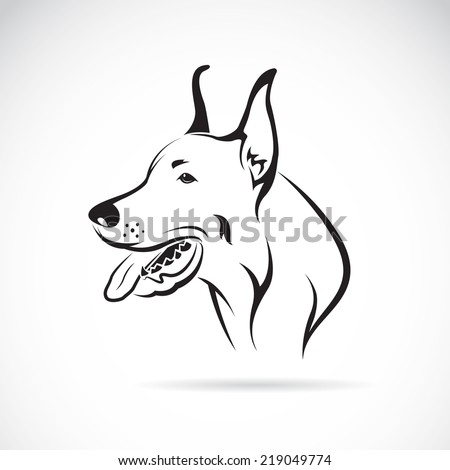 Vector image of an dog (Great Dane) on white background - stock vector
