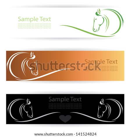 Vector image of an horse banners . - stock vector