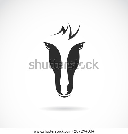Horse Face Logo Vector Image of an Horse Face