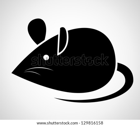 Vector image of an rat on a white background - stock vector