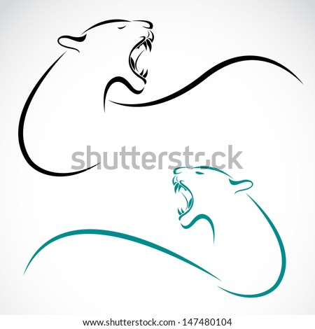 Vector image of an tiger  - stock vector