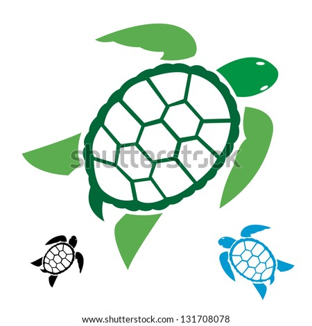 Turtle Shell Vector Vector Image of an Turtle on