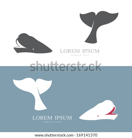Vector image of an whale  - stock vector
