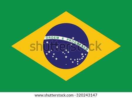 Vector image of Brazil flag