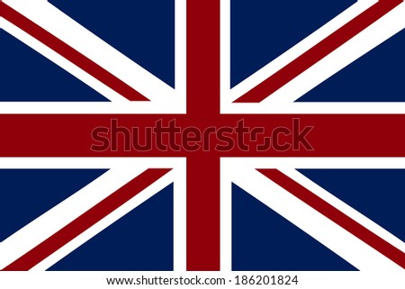 vector image of british flag - stock vector